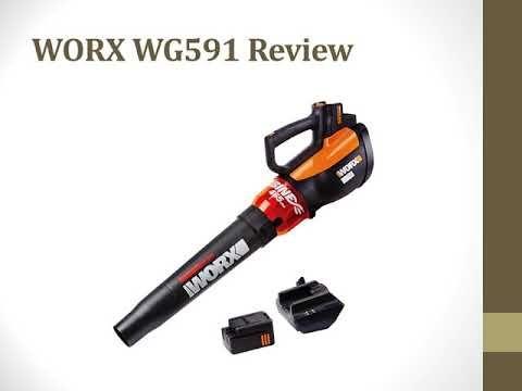 Worx Wg591 Review Turbine Cordless Blower