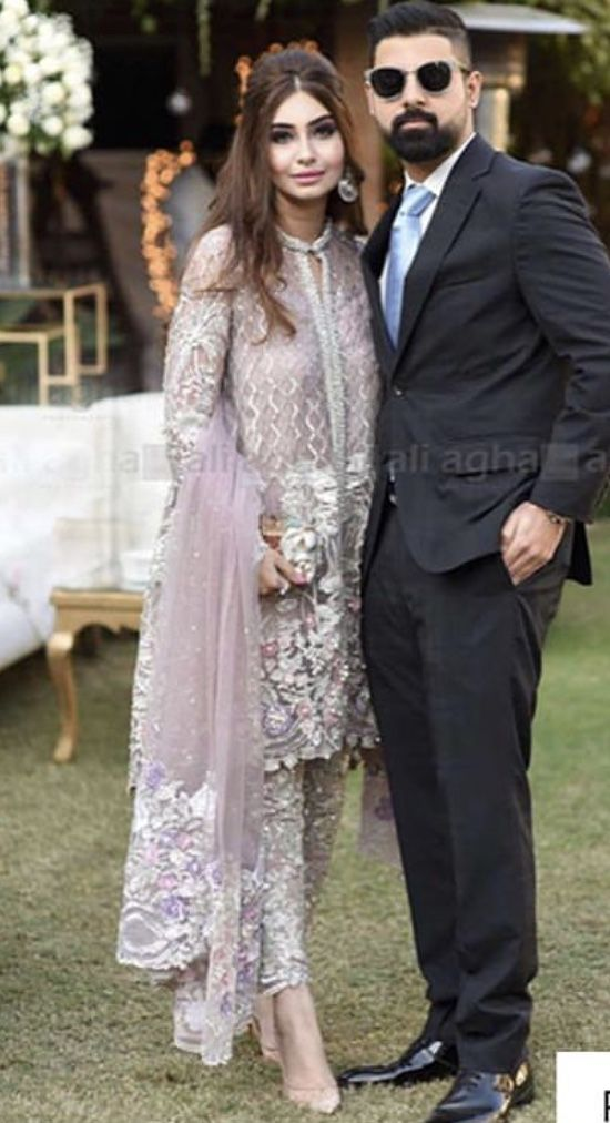 Brides Sister And Brother In Law At The Engagement Pakistani Wedding Dresses Pakistani Dress Design Pakistan Dress