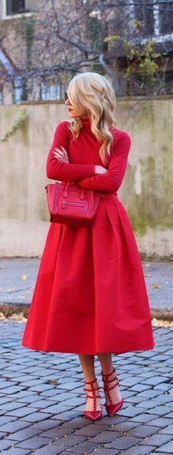Красный цвет в одежде и образах, красный total look - Красота, вдохновленная…