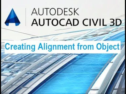 Creating Alignment From Object In Autocad Civil 3d 2018 Autocad