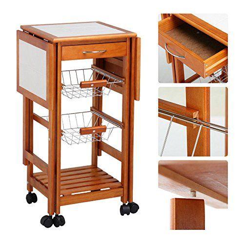 Portable Rolling Drop Leaf Kitchen Storage Island Cart Trolley Folding Table Portable Rolling K Kitchen Island Table Drop Leaf Kitchen Island Kitchen Storage