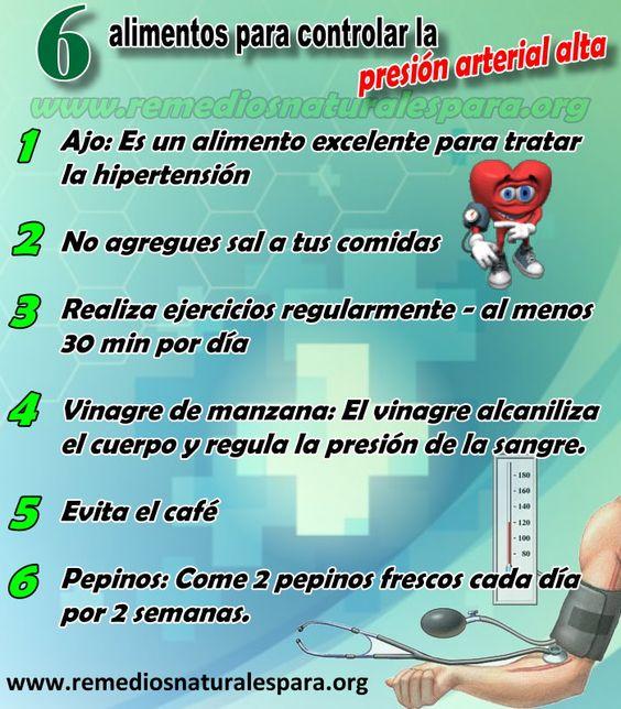 6 remedios naturales para la hipertensi n o presi n - Alimentos para la hipertension alta ...
