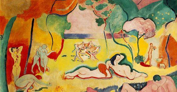 Autor: Henri Matisse Ano: 1906 Técnica: Pintura a óleo sob tela Local onde se encontra: Barnes Foundation - Philadelphia.