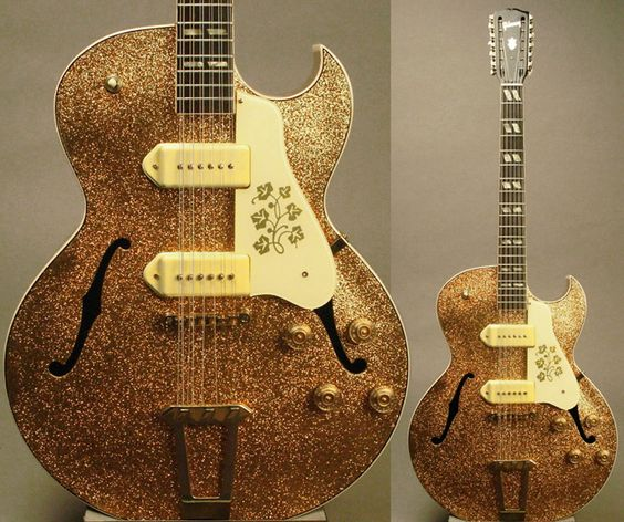 Guitar Blog: 1950 Gibson ES-295 12-String refinished in glitter gold