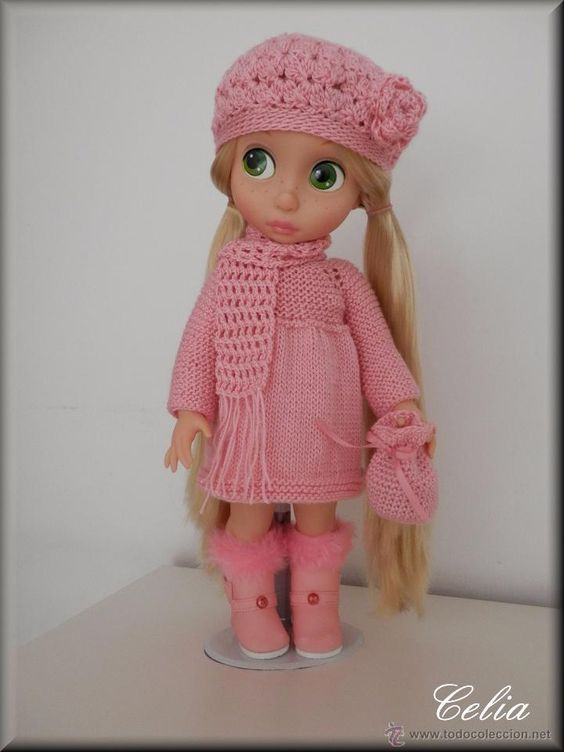 Vestido muñeca animators - conjunto