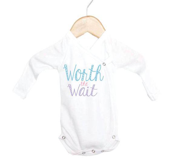 Worth the Wait Preemie Onesie, Preemie Onesies, Baby in Preemie Onesie, Cute Preemie Onesies, Tiny Onesies,  Bows Before Bros $14.99