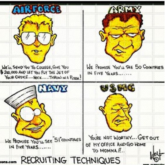 usmc #army #navy #airforce #truth #funny #poolee #recruiting ...