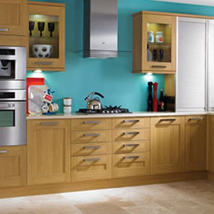 Kitchen compare retailers oak effect for Wickes kitchen cupboards