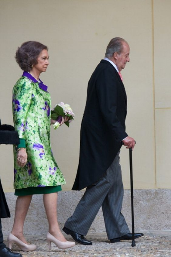 King Juan Carlos of Spain and Queen Sofia of Spain arrive to the Cervantes…