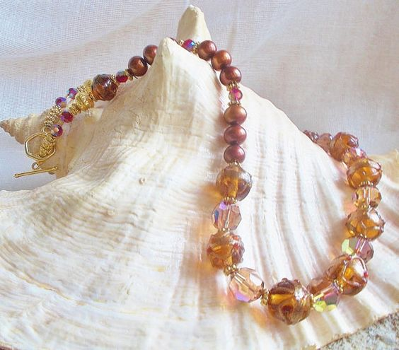 Unique Vintage Bead Crystal Freshwater Pearl and by reginasuniques, $225.00  SOLD