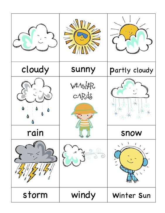 Preschool Printables: Weather Cards | Kindergarten ...