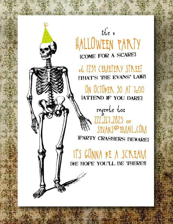 Free Printable Halloween Invitation Templates | Free Printable ...