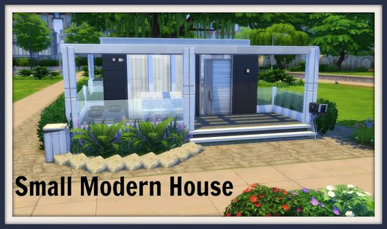 Sims 4 - Small Modern House | Games | Pinterest | Small modern ...