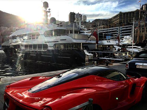 #monacogp #monaco #grandprix #ferrari #laferrari #yacht #superyacht #boat by detail_vision