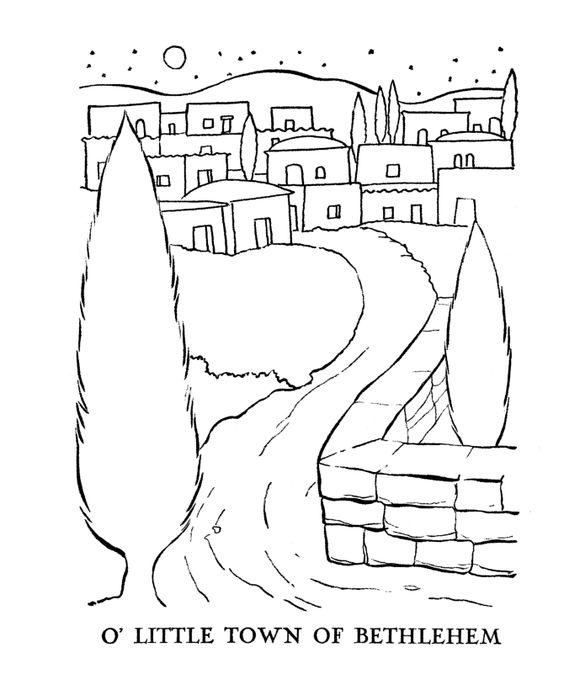 Religious Christmas Bible Coloring Pages Little Town Of