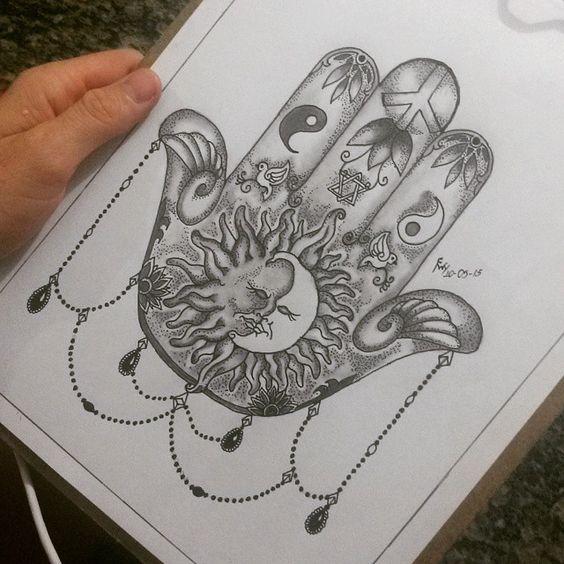 Mão de fatima com meu toque, amor paz equilibrio....