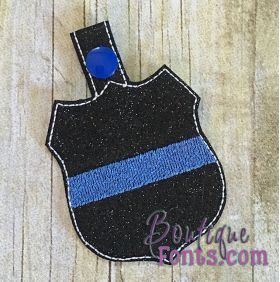 ITH - Projects :: Blue Line Badge Snap Fob