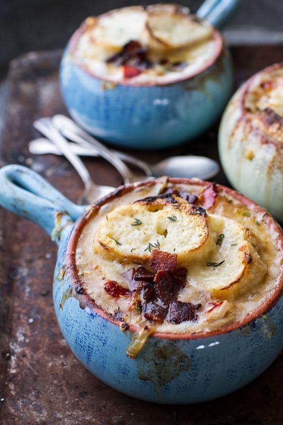 "... Gruyère Toasties"" | halfbakedharvest.com #recipe #soup #comfortfood"