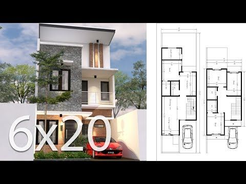 The House Has 2 Car Parking Small Garden Living Room Dining Room Kitchen 3 Bedrooms With 2 Bathr Courtyard House Plans House Design Narrow House Plans