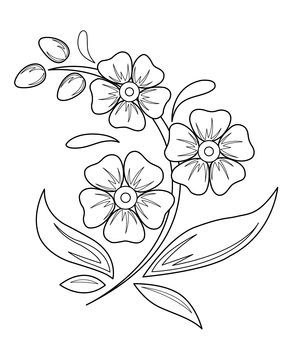 Flowers Coloring Pages For Kids Printable Free Beautiful Flower Drawings Easy Flower Drawings Pretty Flower Drawing