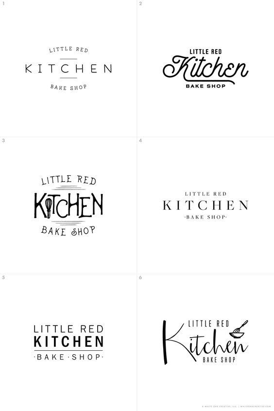Initial Concepts of Little Red Kitchen Bake Shop, food blog, logo design, blog header, logo design