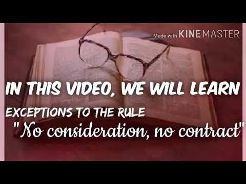 Best Explanation Of Exceptions To The Rule No Consideration No Contract Must Watch Youtube Consideration Educational Videos Contract