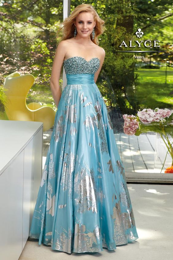 Prom Dresses by Alyce Paris6055Fashion in Foil!