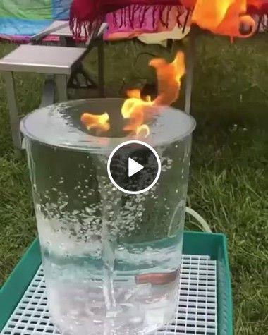 Experiência de água e fogo vira tornado.