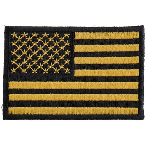 Yellow Black American Flag Patch American Flag Patch Black American Flag Flag Patches