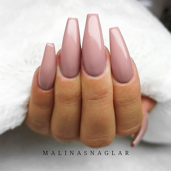 Neutral long nails