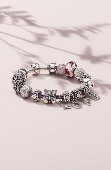 Personalize a Pandora bracelet. | www.goldcasters.com: