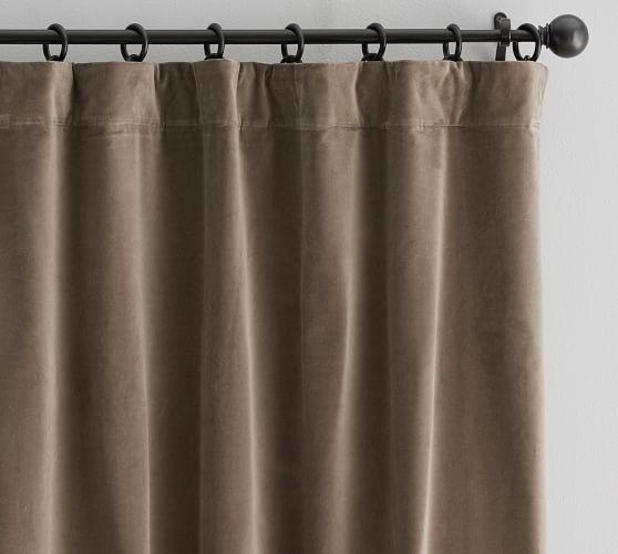 Velvet Twill Curtain Porcini Custom Drapes Velvet Curtains Curtains