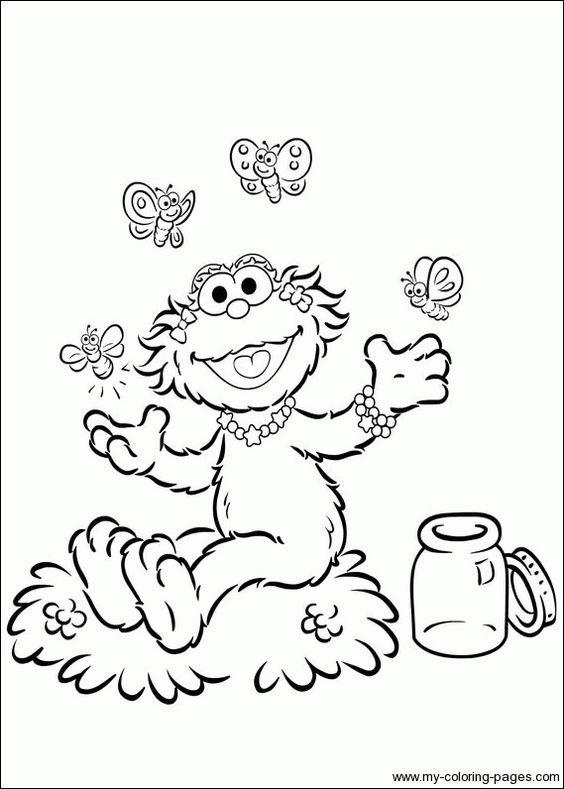 zoe sesame street coloring pages - photo#7