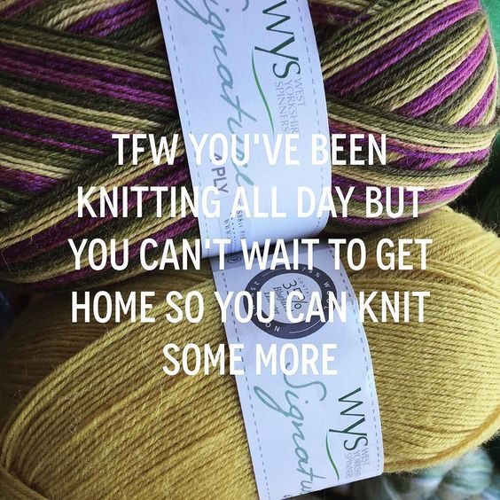Tag a friend who gets this! // #auyarns #alterknituniverse #westyorkshirespinners #knittersofig // From our shop account: @AUshopUK follow us for more fun peeks into our shop near Bristol UK. http://ift.tt/1SPuuxi We're the wool shop in Cleeve with the big sheep mural on the A370.