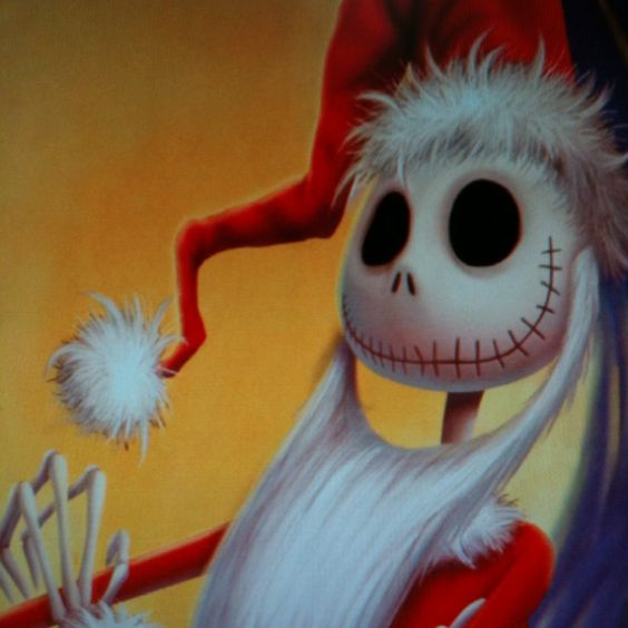 I found this picture Sandy Claus in The Haunted Mansion, Disneyland. Its my favorite! I look for it every time I go.
