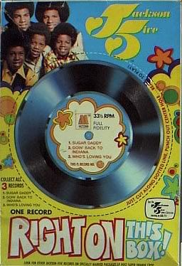 """Cereal Box Records. These were so cool! I remember I had one by """"The Archies"""""""