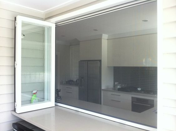 Retractable Fly Screen On A Bi Fold Servery Connect With