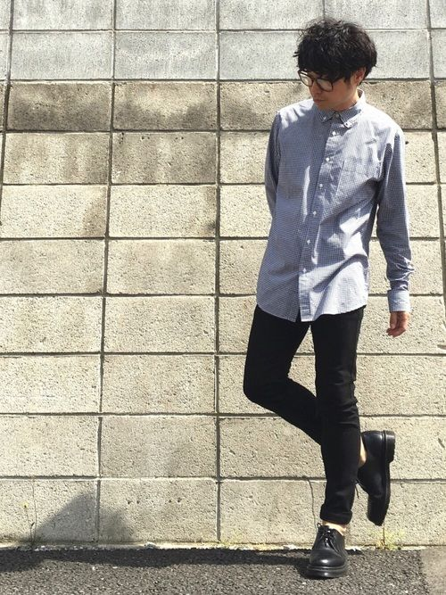 高道 Takamichi Uniqloのシャツ ブラウスを使ったコーディネート