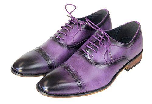 Purple Smooth Ombre Men S Dress Shoes Dress Shoes Men Mens Casual Leather Shoes Dress Shoes
