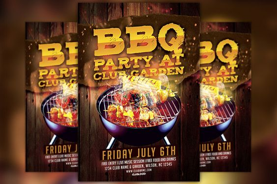 BBQ Party Flyer Template by Flyermind on Creative Market 101 BBQ - bbq flyer