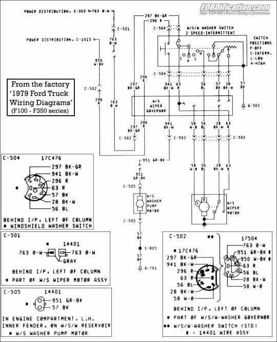 12 1974 ford truck wiring diagram  1979 ford truck ford
