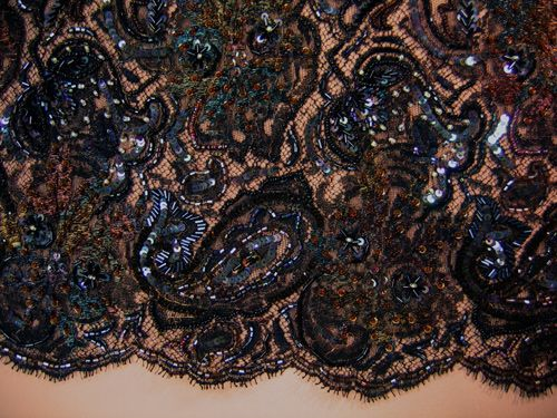 French beaded lace. Beautiful.