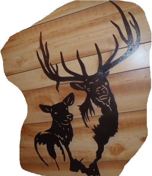 Elk Cutout Sign