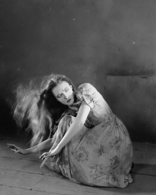 The last silent film for my beloved Lillian Gish, promo shot for The Wind, 1928.