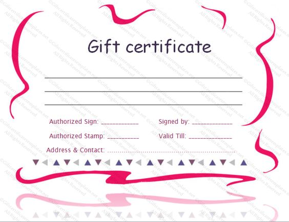 printable gift certificate template - Gift Certificate Templates - download gift certificate template