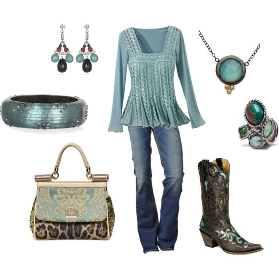 Oh Wow!  Fun!  <3 teal and the accessories are FAB!