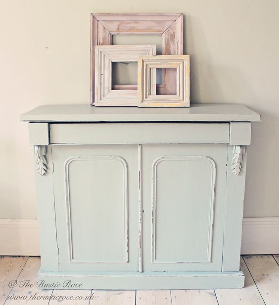 French Grey Kitchen: Rustic Chiffonier Painted In Farrow & Ball French Grey