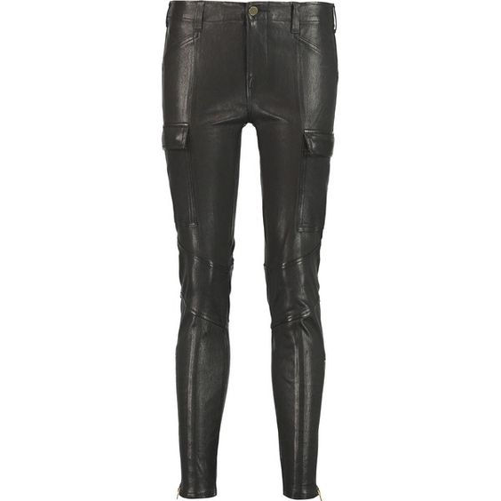 J Brand Leather skinny pants (5 995 SEK) ❤ liked on Polyvore featuring pants, black, black pants, faux leather trousers, stretch leather pants, leather skinny pants and stretchy pants