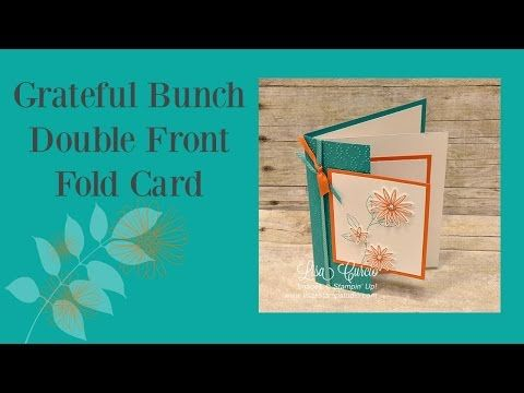 Grateful Bunch Double Front Fold Card - Lisa's Stamp Studio