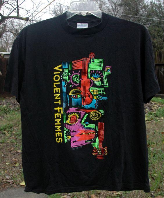 RARE Vintage 90's Violent Femmes Concert T shirt 1992 by BlackLunaVintage on Etsy
